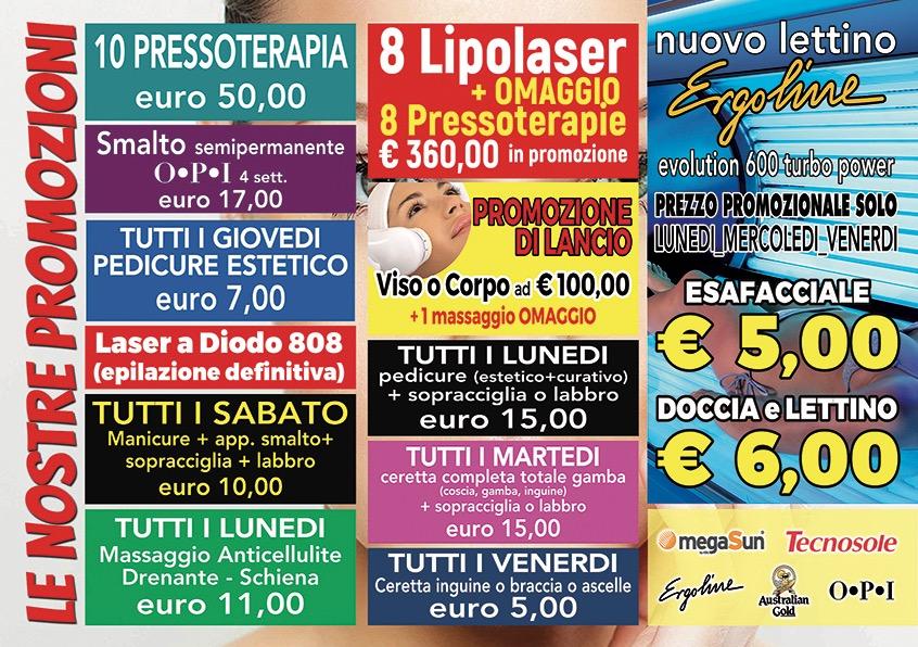 Offerte Nuovo Arredo Taranto.Promozioni Bronzarium Taranto